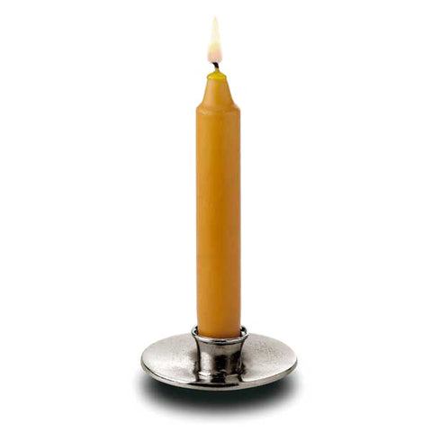 Lei Candlestick - 8.3 cm Diameter - Handcrafted in Italy - Pewter