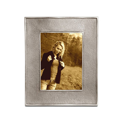 Lombardia II Rectangular Frame - 10.5 cm x 13 cm - Handcrafted in Italy - Pewter