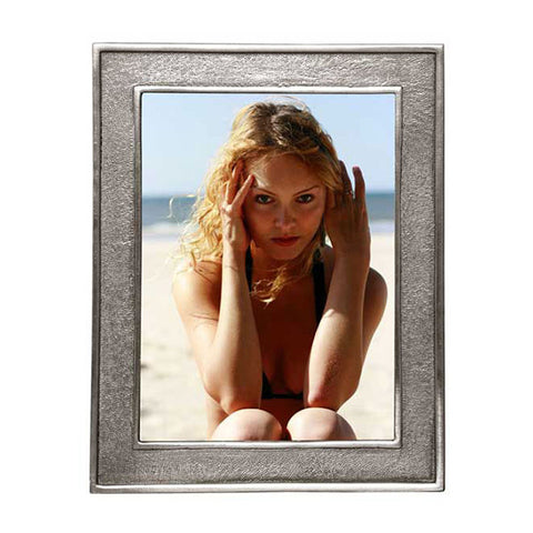 Lombardia Rectangular Frame - 17.5 cm x 22 cm - Handcrafted in Italy - Pewter