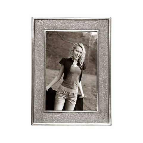 Lombardia Rectangular Frame - 14 cm x 18.5 cm - Handcrafted in Italy - Pewter