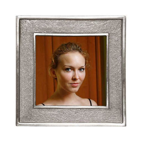 Lombardia Square Frame - 14 cm x 14 cm - Handcrafted in Italy - Pewter