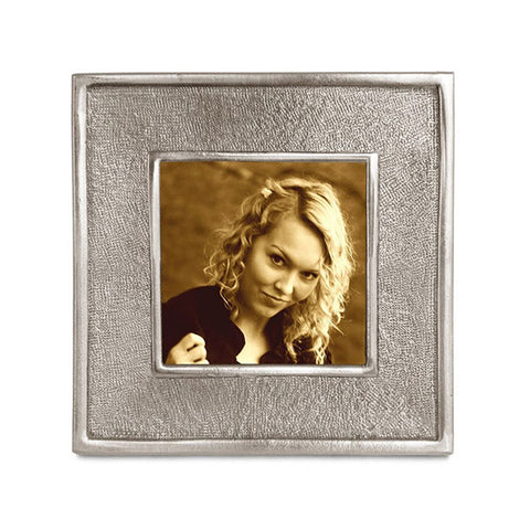 Lombardia II Square Frame - 10.5 cm x 10.5 cm - Handcrafted in Italy - Pewter