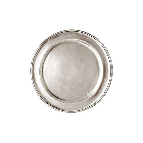 Lombardia Plate/Coaster (Set of 2) - 14 cm Diameter - Handcrafted in Italy - Pewter