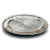 Lombardia Round Sectional Platter - 29 cm Diameter - Handcrafted in Italy - Pewter & Glass