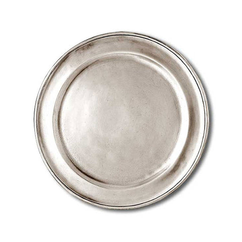 Lombardia Plate (Set of 2) - 20 cm Diameter - Handcrafted in Italy - Pewter