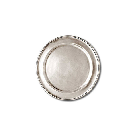 Lombardia Plate/Coaster (Set of 4) - 11 cm Diameter - Handcrafted in Italy - Pewter