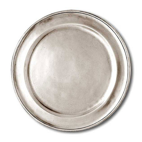 Lombardia Charger/Plate - 27 cm Diameter - Handcrafted in Italy - Pewter