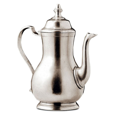 Loreto Coffee Pot - 1.2 L - Handcrafted in Italy - Pewter