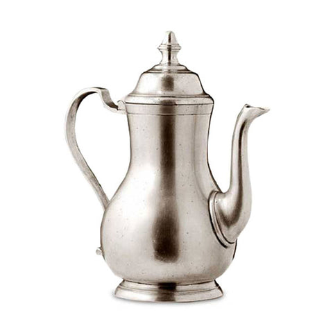 Loreto Coffee Pot - 0.8 L - Handcrafted in Italy - Pewter