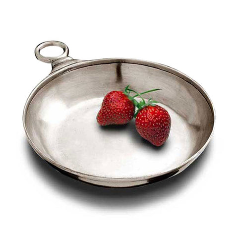 Lugana Bowl / Tastevin - 11 cm Diameter - Handcrafted in Italy - Pewter