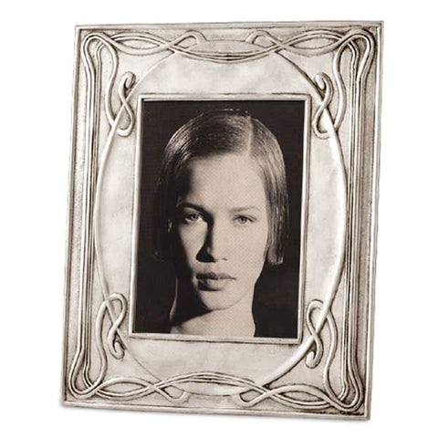 Luigi Rectangular Frame - 23 cm x 27.5 cm - Handcrafted in Italy - Pewter