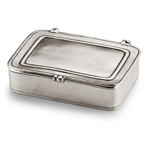 Laurus Lidded Box - 11.5 cm x 8 cm - Handcrafted in Italy - Pewter