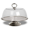 Loreto Cake & Cheese Cloche - 30 cm Diameter - Handcrafted in Italy - Pewter & Glass