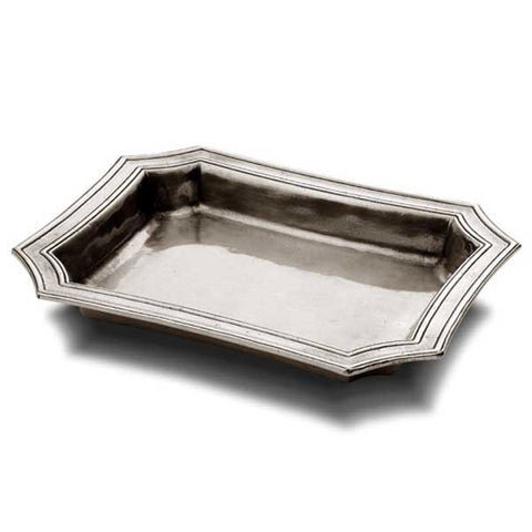 Matera Pocket Tray - 21.5 cm x 17 cm - Handcrafted in Italy - Pewter