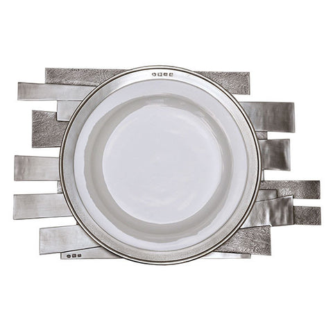 Mosso Modern-style Placemat - 42 cm x 26 cm - Handcrafted in Italy - Pewter
