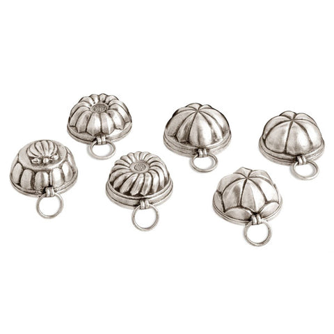 Meneghino Chocolate Moulds (Set of 6) - 5.5 cm - Handcrafted in Italy - Pewter