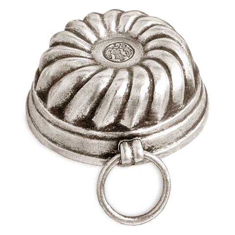 Meneghino Chocolate Mould Segment-Style Pattern - 5.5 cm - Handcrafted in Italy - Pewter