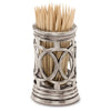 Napoli Cocktail Stick Holder - 6 cm Height - Handcrafted in Italy - Pewter & Glass