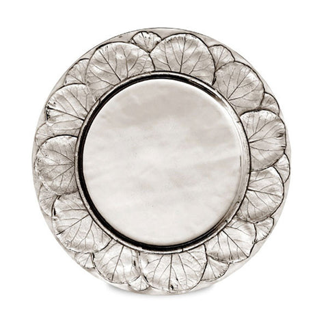 Natura Charger Plate - 32 cm Diameter - Handcrafted in Italy - Pewter