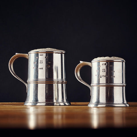 Normandia Tankard - 1/2 pint - Handcrafted in Italy - Pewter
