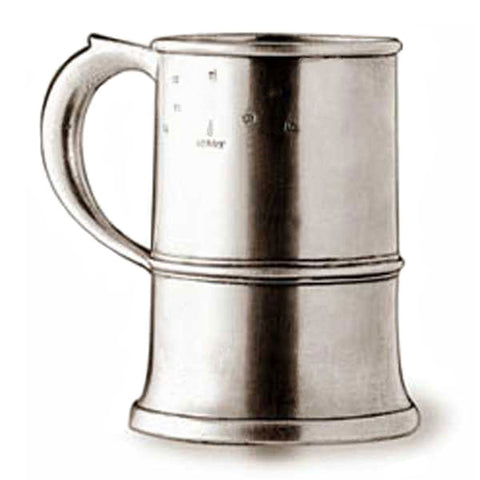 Normandia Tankard - 2 pint - Handcrafted in Italy - Pewter