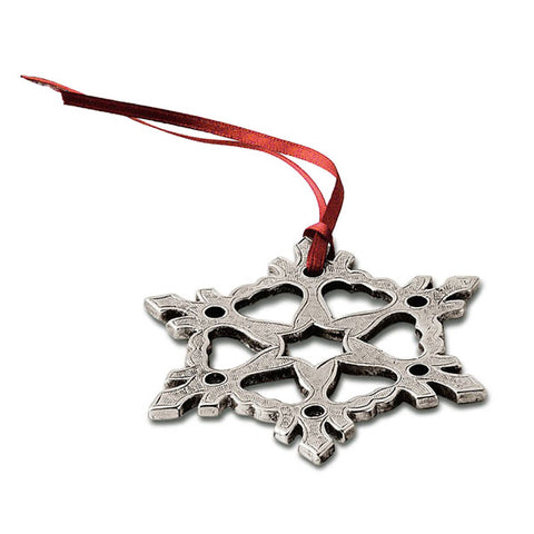 Neve Christmas Ornament (Set of 2) - 8.5 cm Diameter - Handcrafted in Italy - Pewter