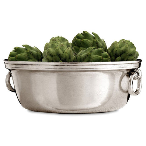 Orvieto Bowl - 1.9 L - Handcrafted in Italy - Pewter