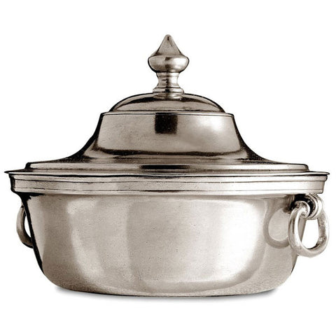 Orvieto Tureen - 1.9 L - Handcrafted in Italy - Pewter