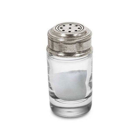 Palermo Salt Shaker - 8 cm Height - Handcrafted in Italy - Pewter & Crystal