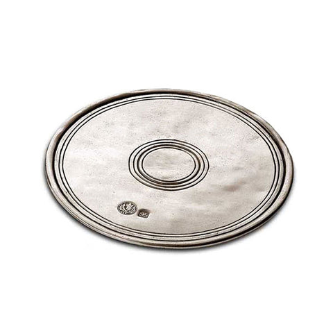 Palio Circular Placemat (Set of 2) - 14 cm Diameter - Handcrafted in Italy - Pewter