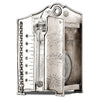 Pascal Water Barometer - 20.5 cm Height - Handcrafted in Italy - Pewter & Glass