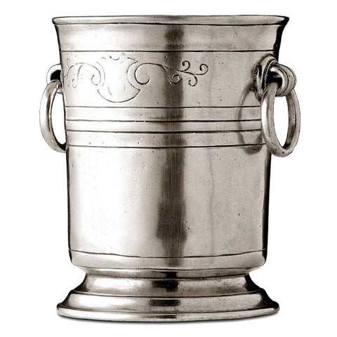 Piemonte Ice Bucket - Engraved - 14.5 cm Height - Handcrafted in Italy - Pewter