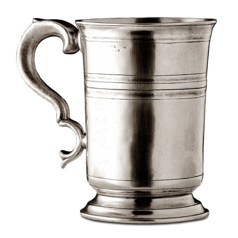 Piemonte Tankard - 1.05 L - Handcrafted in Italy - Pewter
