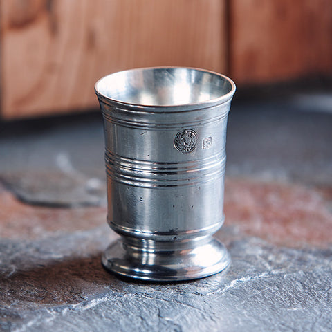 Piemonte Tumbler - 15 cl - Handcrafted in Italy - Pewter