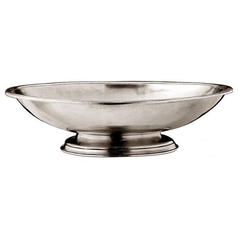 Pienza Bowl - 44 cm Diameter - Handcrafted in Italy - Pewter