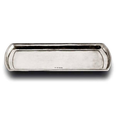 Plum Cake Rectangular Tray - 36 cm x 16 cm - Handcrafted in Italy - Pewter
