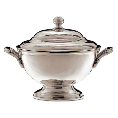 Portofino Tureen - 1 L - Handcrafted in Italy - Pewter