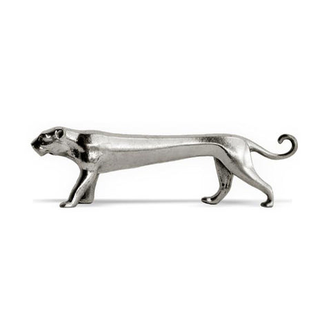 Art Nouveau-Style Standing Puma Knife Rest - 9 cm Length - Handcrafted in Italy - Pewter