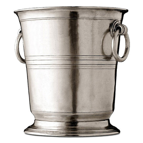 Piemonte Champagne Bucket - 19 cm Diameter - Handcrafted in Italy - Pewter