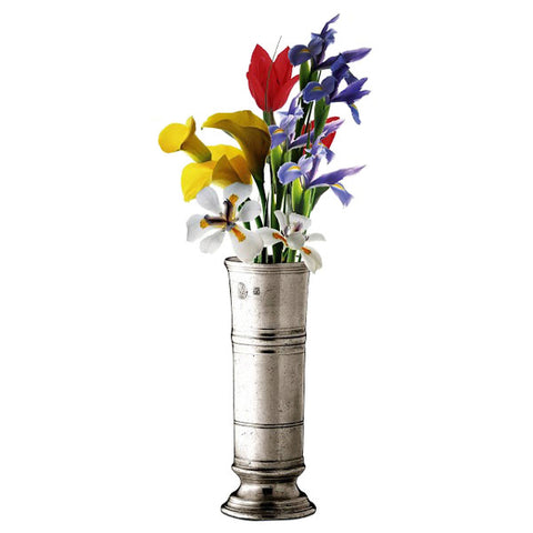 Piemonte Bud Vase - 17 cm Height - Handcrafted in Italy - Pewter
