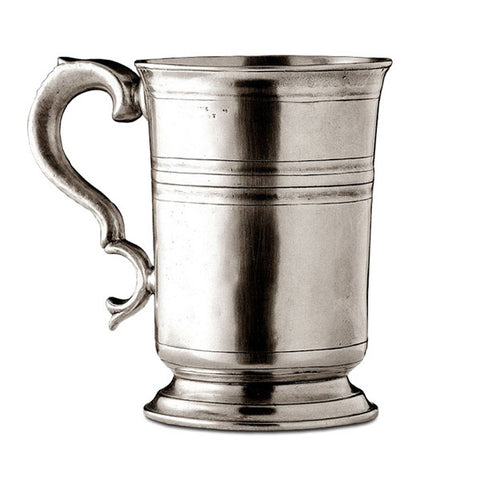 Piemonte Tankard - 45 cl - Handcrafted in Italy - Pewter