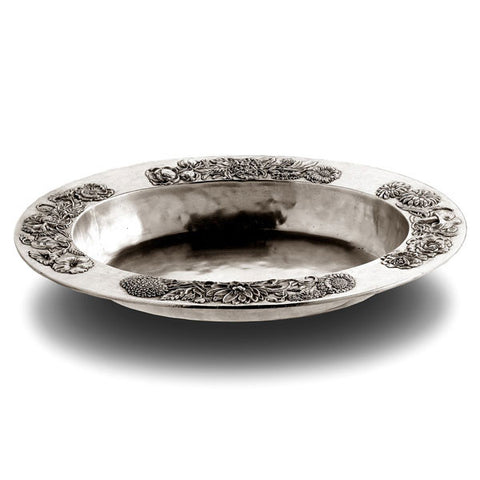 Riviera Oval Bowl - 44 cm x 33 cm - Handcrafted in Italy - Pewter