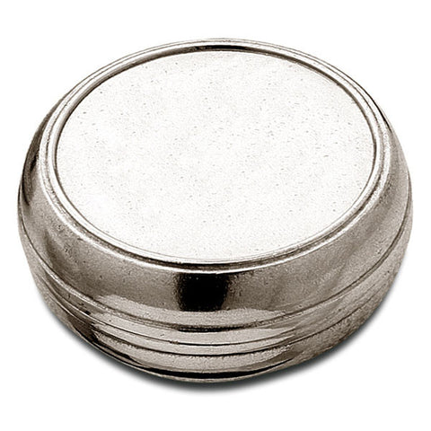 Rodo Box - 7 cm Diameter - Handcrafted in Italy - Pewter