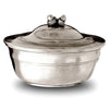 Rovereto Acorn Lidded Bowl - 8 cm Height - Handcrafted in Italy - Pewter