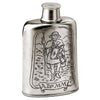 San Giacomo Pilgrim's Water Flask - 14 cm Height - Handcrafted in Italy - Pewter