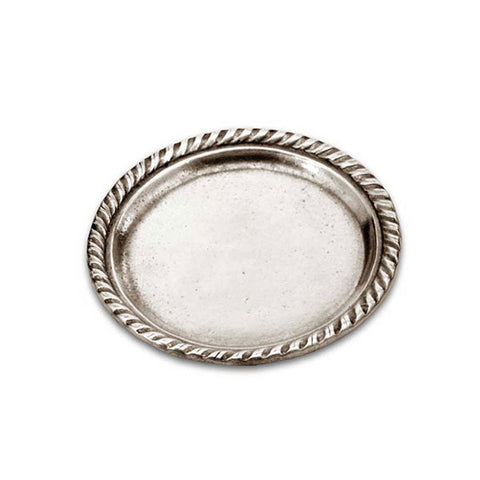 San Marco Plate (Set of 2) - 12.5 cm Diameter - Handcrafted in Italy - Pewter