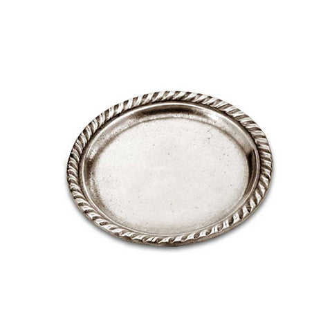 San Marco Plate (Set of 2) - 10.5 cm Diameter - Handcrafted in Italy - Pewter