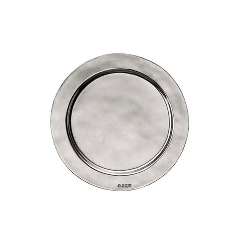 Sebino Plate (Set of 2) - 12.5 cm Diameter - Handcrafted in Italy - Pewter