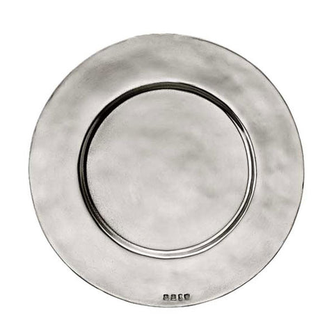 Sebino Charger - 32 cm Diameter - Handcrafted in Italy - Pewter