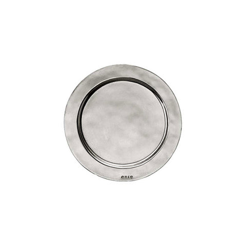 Sebino Plate (Set of 2) - 10.5 cm Diameter - Handcrafted in Italy - Pewter